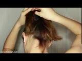 прическа Пучок (для коротких волос)